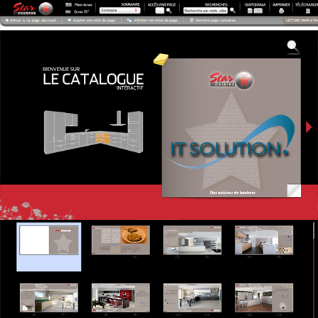 projets catalogue interactive itsolution tunisie starcuisie