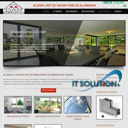 projets website itsolution tunisie aludar