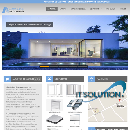 projets website itsolution tunisie aluminium de carthage