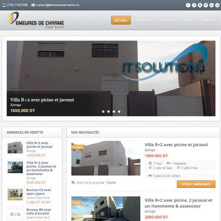 projets website itsolution tunisie demeuresdecharme